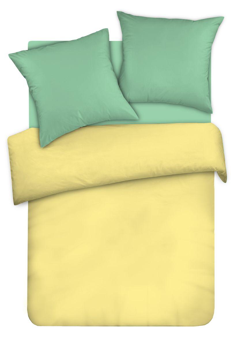 Комплект белья Унисон Янтарный сон, евро, наволочки 70 x 70, цвет: желтый. 335761335761
