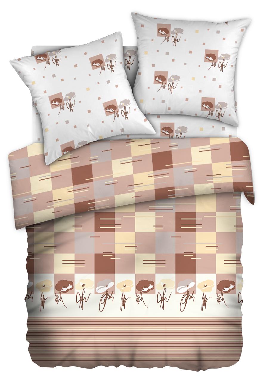 Комплект белья Любимый дом Мирабелла, 1,5 спальное, наволочки 70 x 70, цвет: бежевый. 336637336637