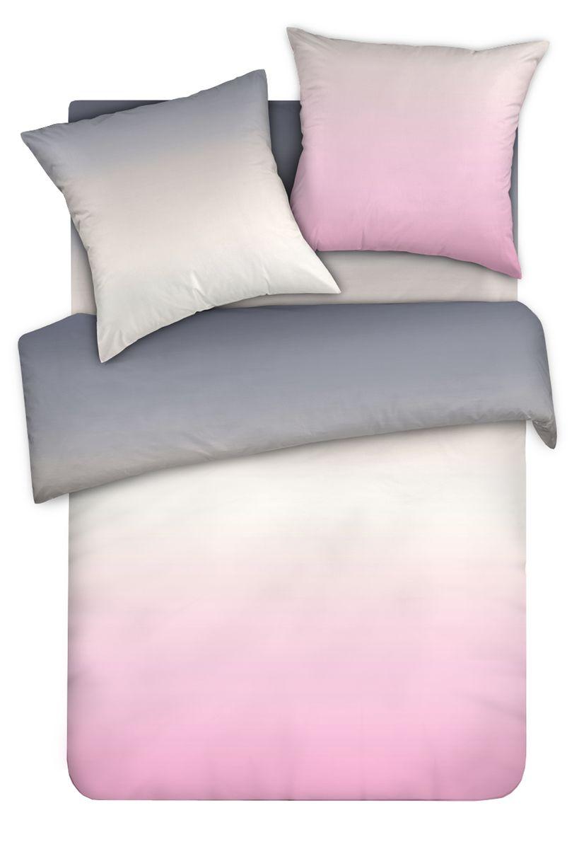 Комплект белья Унисон Розовый Зефир, 1,5 спальное, наволочки 50 x 70, цвет: розовый. 338563338563