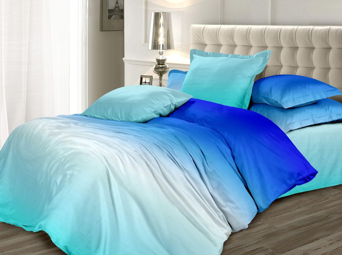 Комплект белья Унисон Небесный перезвон, 2-х спальное, наволочки 50 x 70, цвет: голубой. 338591338591