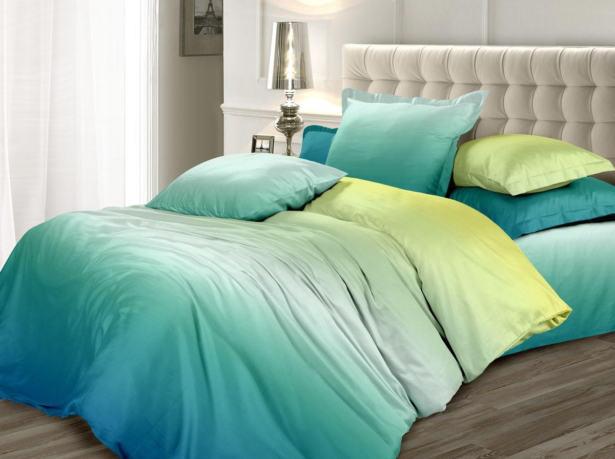 Комплект белья Унисон Малахитовый цветок, 2-х спальное, наволочки 70 x 70, цвет: зеленый. 338600338600