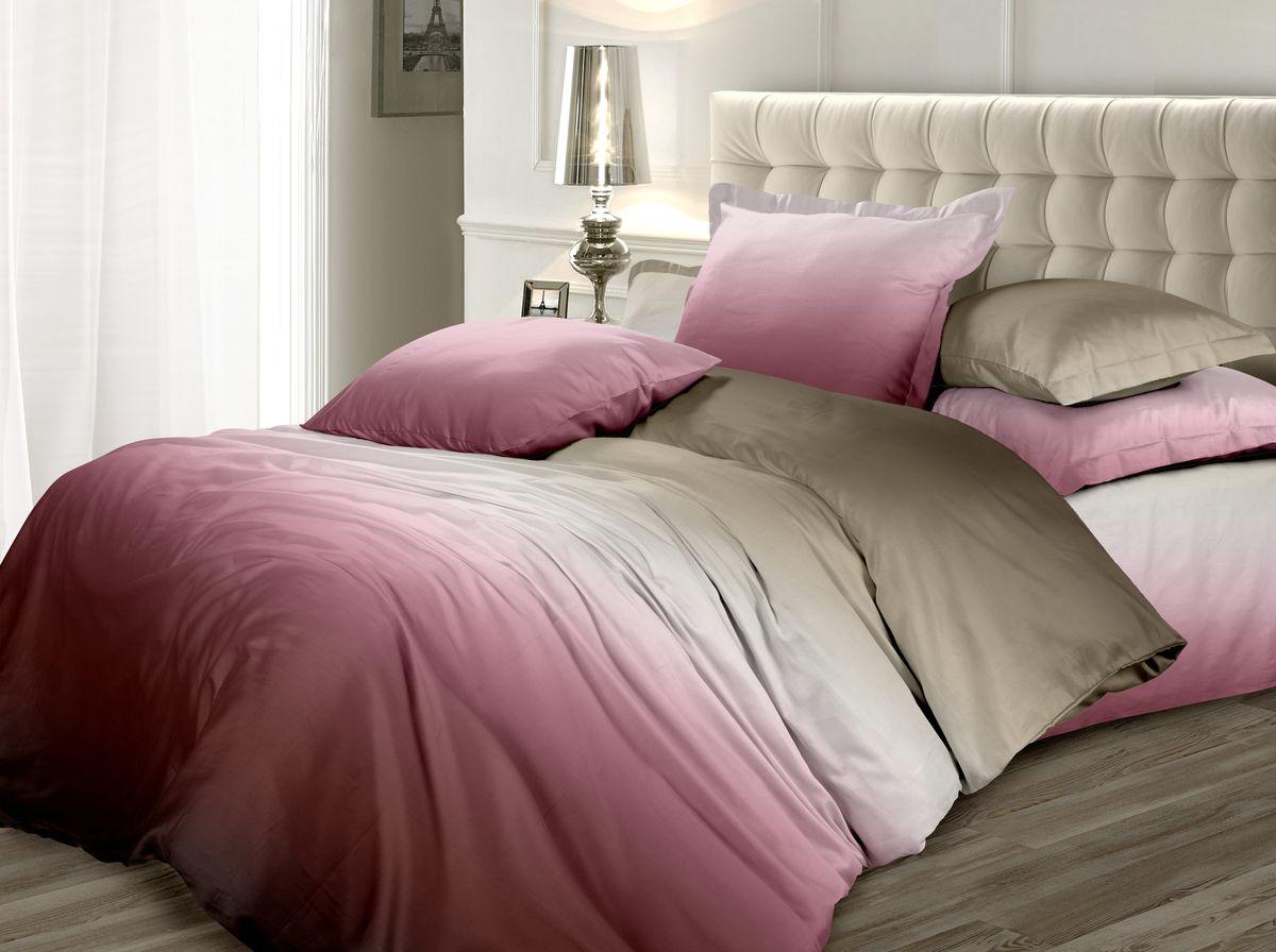 Комплект белья Унисон Сливовая нежность, 2-х спальное, наволочки 70 x 70, цвет: коричневый. 338604338604