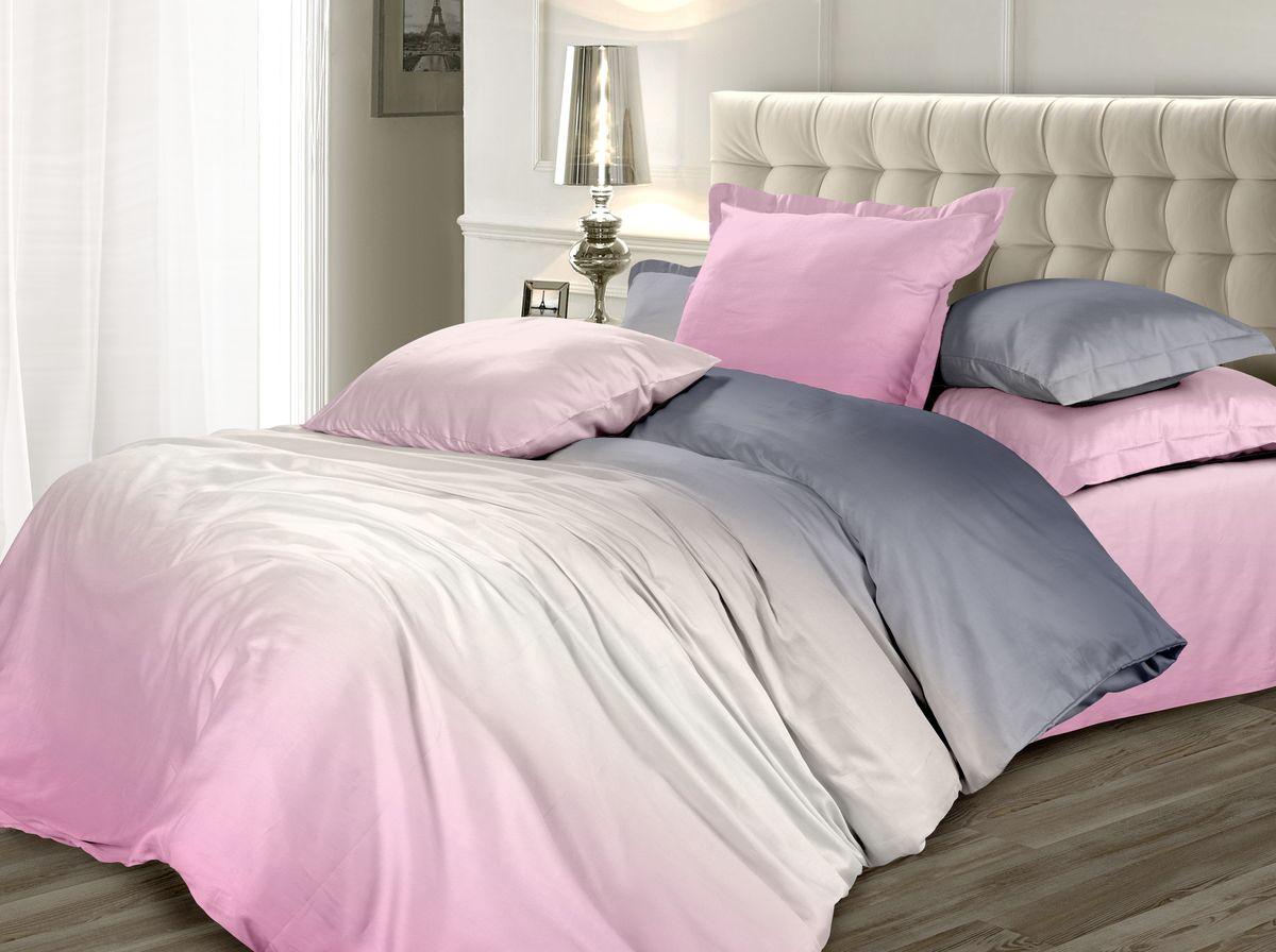 Комплект белья Унисон Розовый Зефир, семейный, наволочки 70 x 70, цвет: розовый. 338623338623