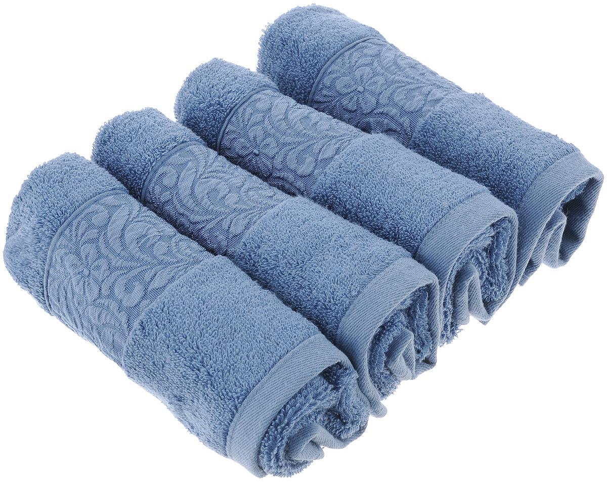 Набор бамбуковых полотенец Issimo Home Valencia, цвет: индиго, 30 x 50 см, 4 шт4807Полотенца Issimo Home Valencia выполнены из 60% бамбукового волокна и 40% хлопка. Такими полотенцами не нужно вытираться - только коснитесь кожи - и ткань сама все впитает. Такая ткань впитывает в 3 раза лучше, чем хлопок. Набор из маленьких полотенец-салфеток очень практичен - он станет незаменимым в дороге и в путешествиях. Кроме того, это хороший, красивый и изысканный подарок. Несмотря на богатую плотность и высокую петлю полотенец, они быстро сохнут, остаются легкими даже при намокании. Набор бамбуковых полотенец имеет красивый жаккардовый бордюр, выполненный с орнаментом в цвет изделия. Благородные, классические тона создадут уют и подчеркнут лучшие качества махровой ткани, а сочные, яркие, летние оттенки создадут ощущение праздника и наполнят дом энергией. Красивая, стильная упаковка этих полотенец делает их уже готовым подарком к любому случаю.