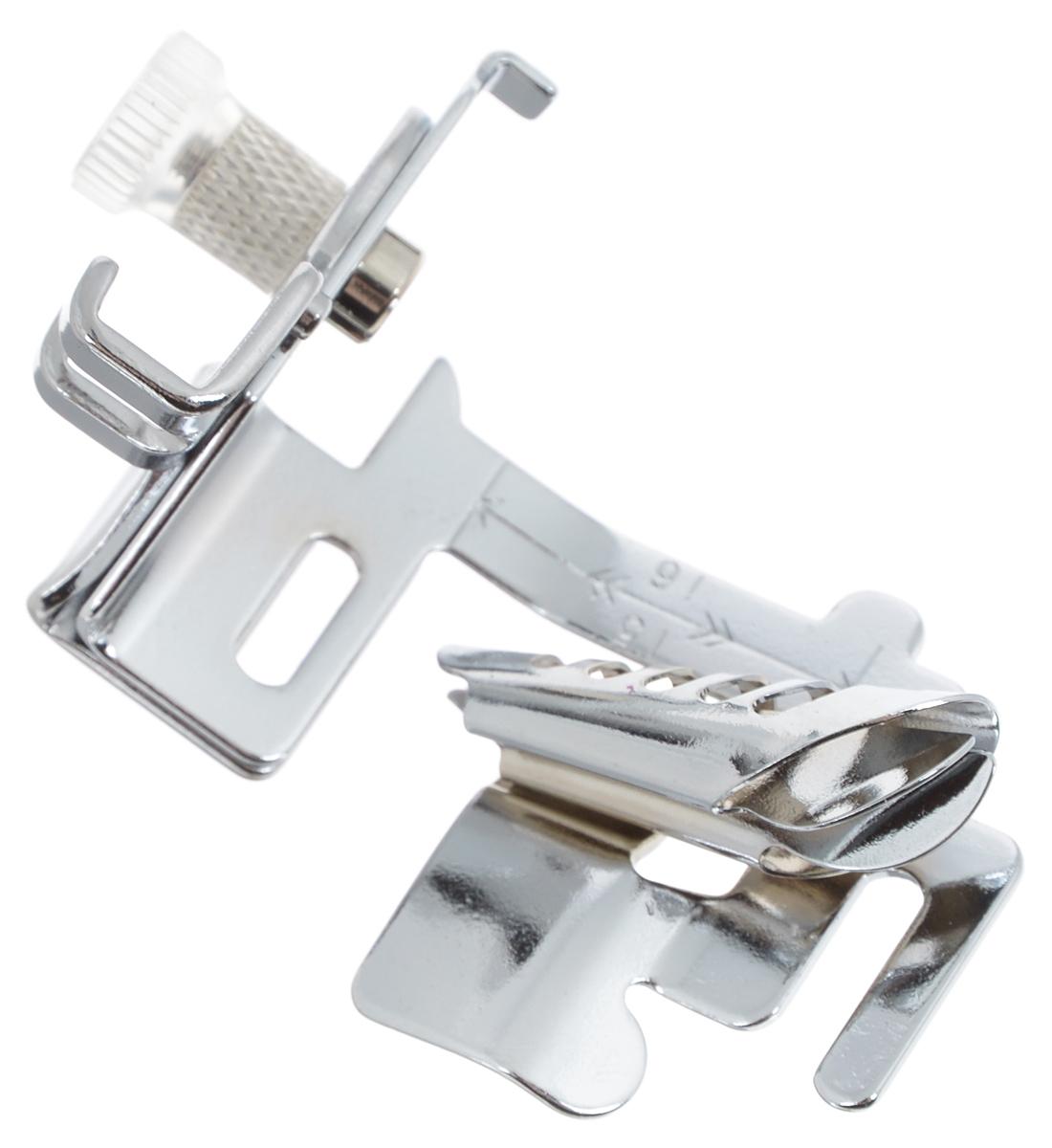 Лапка для швейной машины Aurora, для окантовывания края отделочной тесьмойAU-117Лапка для швейных машин Aurora предназначена для обработки краев отделочной тесьмой. Эта операция является достаточно простым способом придать обрезным краям материала ровный и аккуратный вид. Для этого нужна отделочная тесьма (косая бейка) шириной 24 мм, без средней складки. Подходит для большинства современных бытовых швейных машин. Инструкция по использованию прилагается.