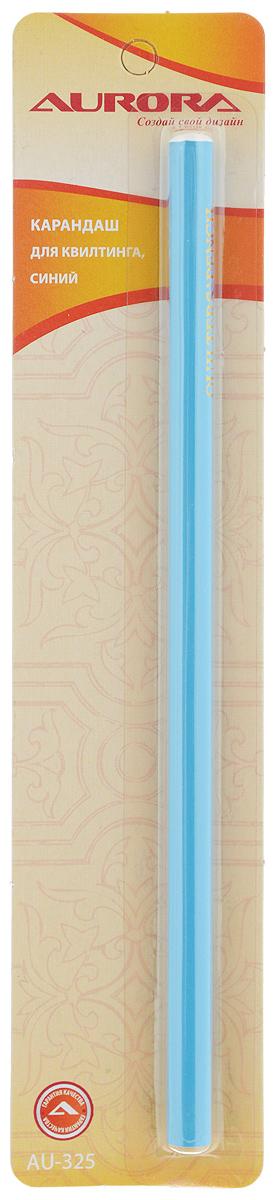 Карандаш для квилтинга Aurora, цвет: синийAU-325Карандаш Aurora предназначен для нанесения линий выкройки, рисунка для вышивки, простежки и прочих меток. Предварительно необходимо протестировать на кусочке ткани. Нельзя гладить и смывать горячей водой, так как высокая температура может сделать маркировку несмываемой.