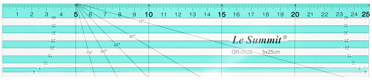 Линейка для пэчворка Aurora, 5 х 25 смAU-0525Линейка Aurora выполнена из высококачественного прозрачного пластика. Используется при крое в пэчворке. Для удобства раскроя треугольных форм нанесена разметка 15, 30, 45, 60 и 75 градусов.