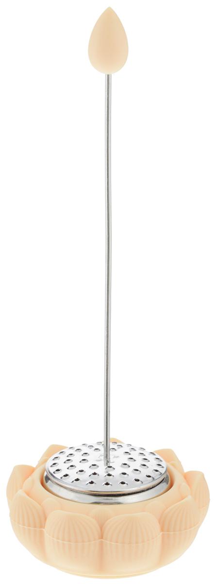 Ситечко для чая Apollo Lotus, с подставкой, цвет: бежевыйLTS-01Ситечко для чая Apollo Lotus прекрасно подходит для заваривания любого вида чая. Оригинальная форма делает ситечко удобным и стильным аксессуаром для чаепития. Предназначено для домашнего использования. Ситечко дополнено специальной подставкой. Диаметр подставки ситечка: 6 см. Общая высота ситечка: 16 см.
