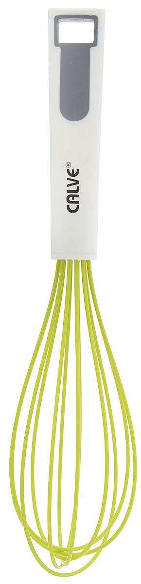 Венчик Calve, длина 27,5 смCL-1311Венчик Calve выполнен из силикона с металлическим сердечником. Предназначен для взбивания молочной пены, соусов, десертов. Удобная ручка из нейлона и пластика не позволит выскользнуть венчику из вашей руки, сделает приятным процесс приготовления любого блюда. На ручке имеется отверстие, благодаря которому изделие можно подвесить в любом удобном для вас месте. Практичный и удобный венчик Calve займет достойное место среди аксессуаров на вашей кухне. Можно мыть в посудомоечной машине. Длина венчика: 27,5 см. Размер рабочей поверхности: 15 х 6 см.