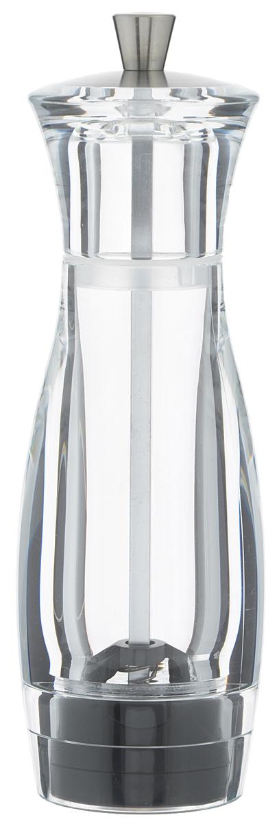 Мельница для перца Tescoma Virgo, высота 16 см658201Мельница для перца Tescoma Virgo - отличное приспособление для приготовления блюд со свежемолотым перцем. Изделие имеет керамический механизм размола и регулировку степени грубости помола. Мельница выполнена из прочного пластика и нержавеющей стали. Прозрачные стенки позволяют видеть количество содержимого. Не предназначена для мытья в посудомоечной машине.