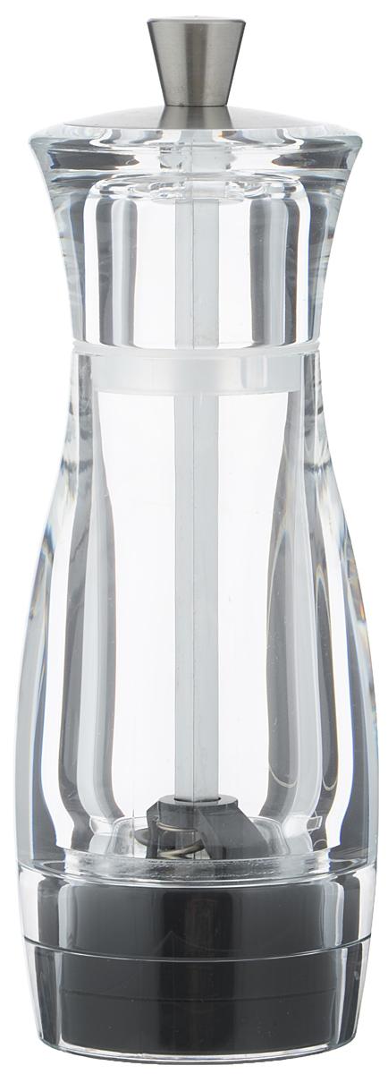 Мельница для перца Tescoma Virgo, высота 14 см658200Мельница для перца Tescoma Virgo - отличное приспособление для приготовления блюд со свежемолотым перцем. Изделие имеет керамический механизм размола и регулировку степени грубости помола. Мельница выполнена из прочного пластика и нержавеющей стали. Прозрачные стенки позволяют видеть количество содержимого. Не предназначена для мытья в посудомоечной машине.