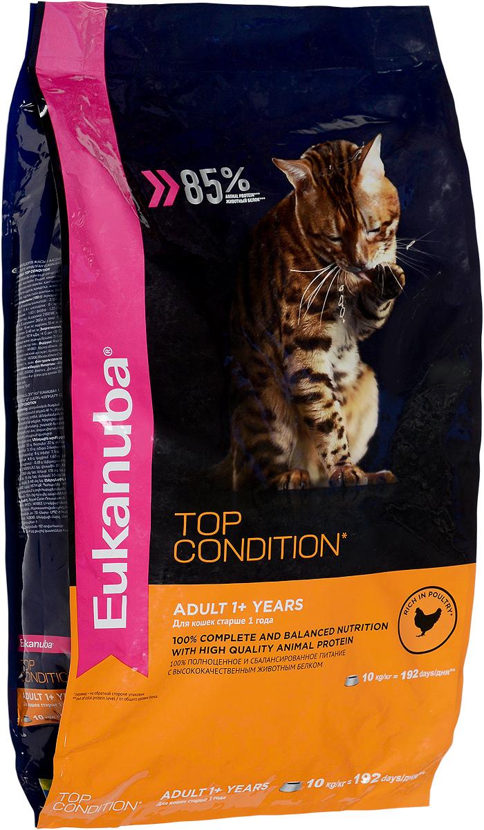 Корм сухой Eukanuba EUK Cat для взрослых кошек, с домашней птицей, 10 кг10144221Полнорационный сухой корм Eukanuba EUK Cat предназначен для взрослых кошек старше 1 года. 100% полноценное и сбалансированное питание с высококачественным животным белком. Поддерживает здоровье кошки по шести ключевым признакам и обеспечивает отличную физическую форму: Особенности корма: 1. Надежная защита: способствует поддержанию иммунной системы за счет антиоксидантов. 2. Оптимальное пищеварение: способствует поддержанию здоровой кишечной микрофлоры за счет пребиотиков и клетчатки. 3. Здоровье мочевыводящей системы: разработан специально для поддержания здоровья мочевыводящий путей. 4. Сильные мышцы: белки животного происхождения способствуют росту и сохранению мышечной массы. Содержит 85% животного белка (от общего уровня белка). 5. Здоровье кожи и шерсти: способствует сохранению здоровья кожи и блестящей шерсти, благодаря рыбьему жиру и оптимальному соотношению омега-6 и омега-3 жирных кислот. 6. Здоровые зубы: поддерживает...