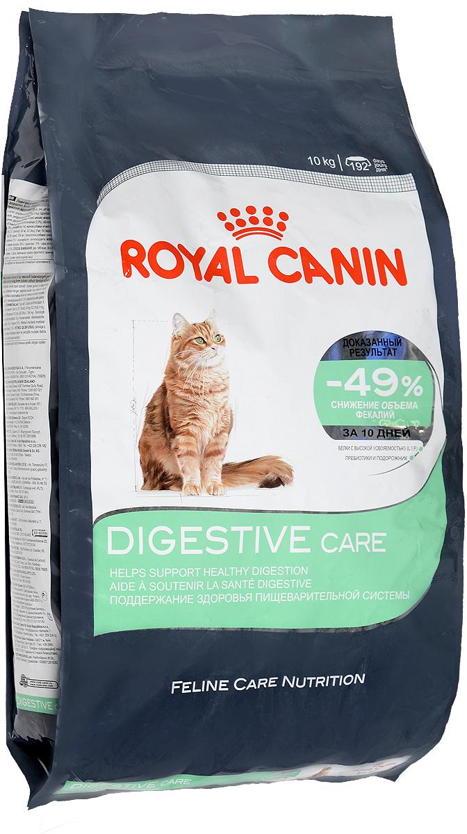 Корм сухой Royal Canin Digestive Care, для взрослых кошек с чувствительным пищеварением, 10 кг58992Сухой корм Royal Canin Digestive Care - это полнорационный сбалансированный корм для кошек с расстройствами пищеварительной системы. По своей природе кошки регулярно потребляют небольшое количество пищи в течение дня. Однако, некоторые из них способны съесть достаточно большую порцию за короткое время, что может привести к пищеварительному расстройству и срыгиванию. Специальные крокеты разработаны для того, чтобы стимулировать тщательное пережевывание корма и предотвратить его заглатывание, что предотвратит срыгивание пищи. Формула специально разработана для того, чтобы способствовать оптимальному усвоению продукта и облегчить процесс пищеварения. В дальнейшем это приведет к уменьшению объема фекалий. Уход за ЖКТ-это точно сбалансированная питательная формула, которая помогает поддерживать здоровье пищеварительной системы. С двойным действием: - Легко усваивается: пищеварительная формула содержит белки чрезвычайно высокой усвояемости (L.I.P)....