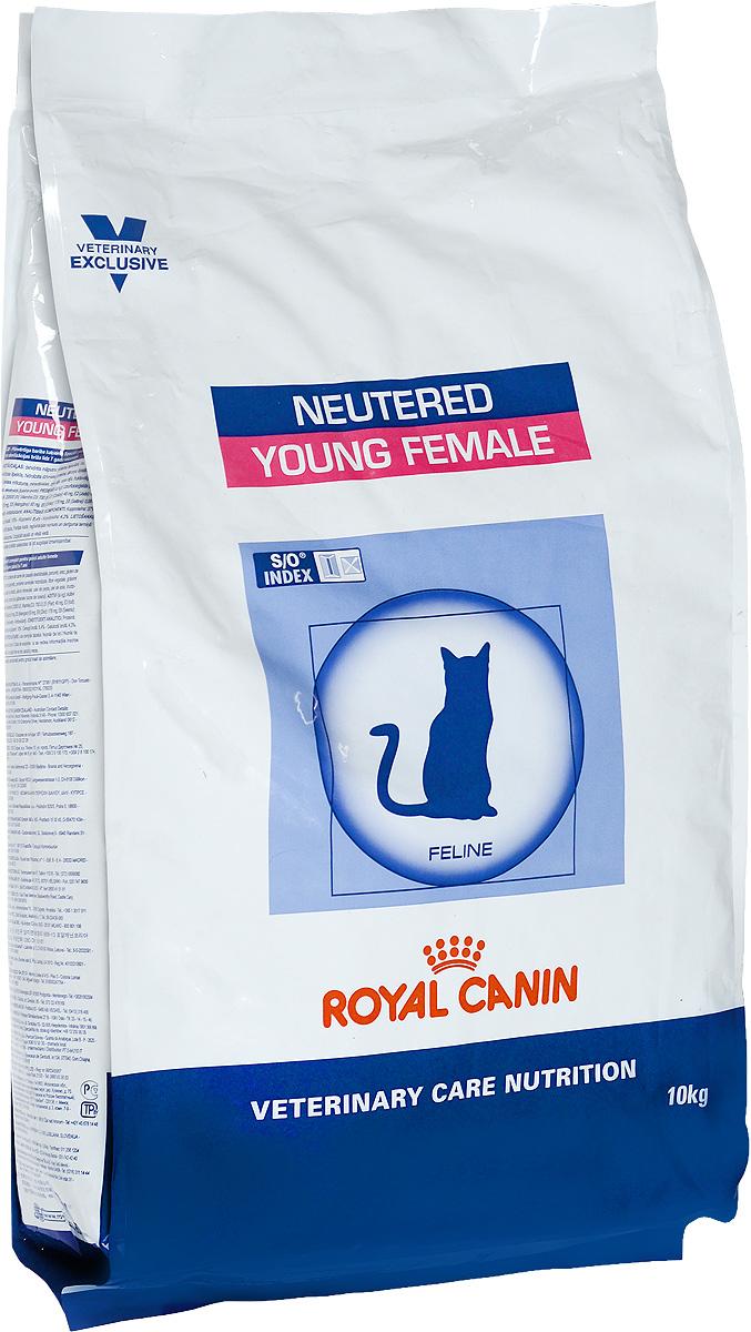 Корм сухой Royal Canin Young Female для стерилизованных кошек с момента операции до 7 лет, 10 кг28553Royal Canin Young Female - полнорационный сухой корм для стерилизованных кошек с повышенной чувствительностью кожи и шерсти. Оптимальный вес: - обогащенная белками формула способствует лучшему поддержанию мышечного тонуса по сравнению с обычным режимом питания, повышению вкусовых качеств корма. При одном и том же уровне метаболизма белки дают на 30% меньше чистой энергии, чем углеводы. L- карнитин улучшает транспорт жирных кислот в митохондрии. Разбавление мочи: - увеличение объема мочи одновременно снижает содержание в ней минеральных веществ, из которых формируются струвитные и оксалатные кристаллы. Таким образом, создаются условия, неблагоприятные для образования камней в мочевыводящих путях. Барьерная функция кожи: - комплекс, состоящий из ниацина, инозита, холина, гистидина и пантотеновой кислоты, уменьшает потерю жидкости через кожу и усиливает ее барьерную функцию. S/O Index : Знак S/O Index на упаковке означает,...