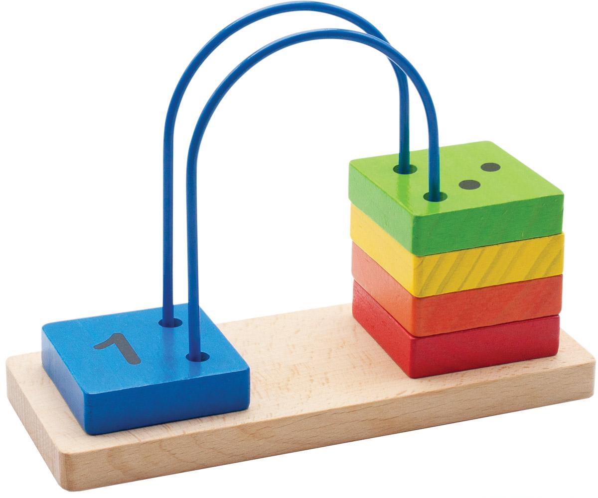 Мир деревянных игрушек Счеты перекидные малыеД372Перекидные счеты Мир деревянных игрушек помогут ребенку не только изучить цифры, а также выучить цвета. Пять ярких элементов, нанизанных на проволоку, окрашены нетоксичной краской и не представляют опасности для ребенка. Краска устойчива к воздействию влаги, рисунок на изделии долгое время будет сохранять яркость. Увлекательная развивающая игрушка поможет малышу весело и с пользой провести время. Игрушка способствует развитию моторики, тренирует мышцы кисти, отрабатывает круговые движения, стимулирует визуальное восприятие, цветовосприятие, когнитивное мышление, помогает изучить цифры и счет, развивает интеллектуальные способности и воображение. С такой игрушкой учебный процесс будет интересным и увлекательным для вашего ребенка.