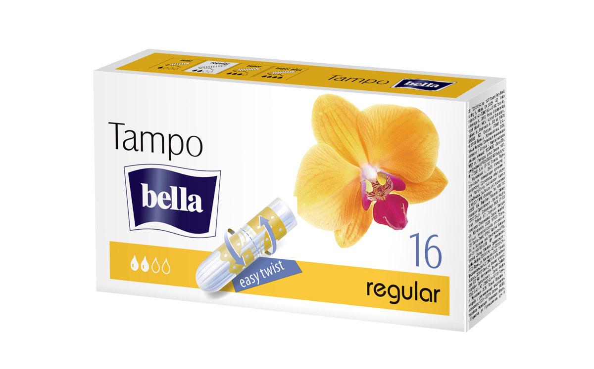 Bella Тампоны женские гигиенические без аппликатора premium comfort Regular, 16 шт (easy twist)BE-032-RE16-026Tampo Bella Regular Тампон со средней впитывающей способностью, применяется при незначительных и средних выделениях. Поверхность тампона покрыта нежным нетканым материалом, что предотвращает отслоение отдельных волокон и обеспечивает комфорт и безопасность в процессе его использования.