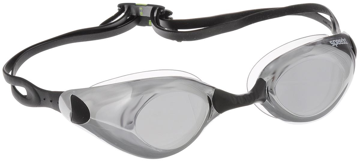 Очки для плавания Speedo Aquapulse Mirror, цвет: черный, зеркальный8-092997649-7649Очки для плавания Speedo Aquapulse Mirror - удобные и надежные очки, которые отлично подходят для ежедневных профессиональных тренировок. Очки отличаются широкими линзами с низкопрофильным дизайном, которые обеспечивают отличный боковой обзор. Для удобной посадки очков предусмотрены сменные носовые дужки 3 размеров. Благодаря раздвоенному силиконовому ремешку очки можно надежно закрепить перед стартом. Затылочные клипсы позволяют настроить оптимальную длину фиксирующего ремешка. Эргономичный уплотнитель очков обеспечивает максимальный комфорт. Линзы имеют антизапотевающее покрытие и защищают от ультрафиолетового излучения, а зеркальное покрытие снижает яркость бликов в воде.