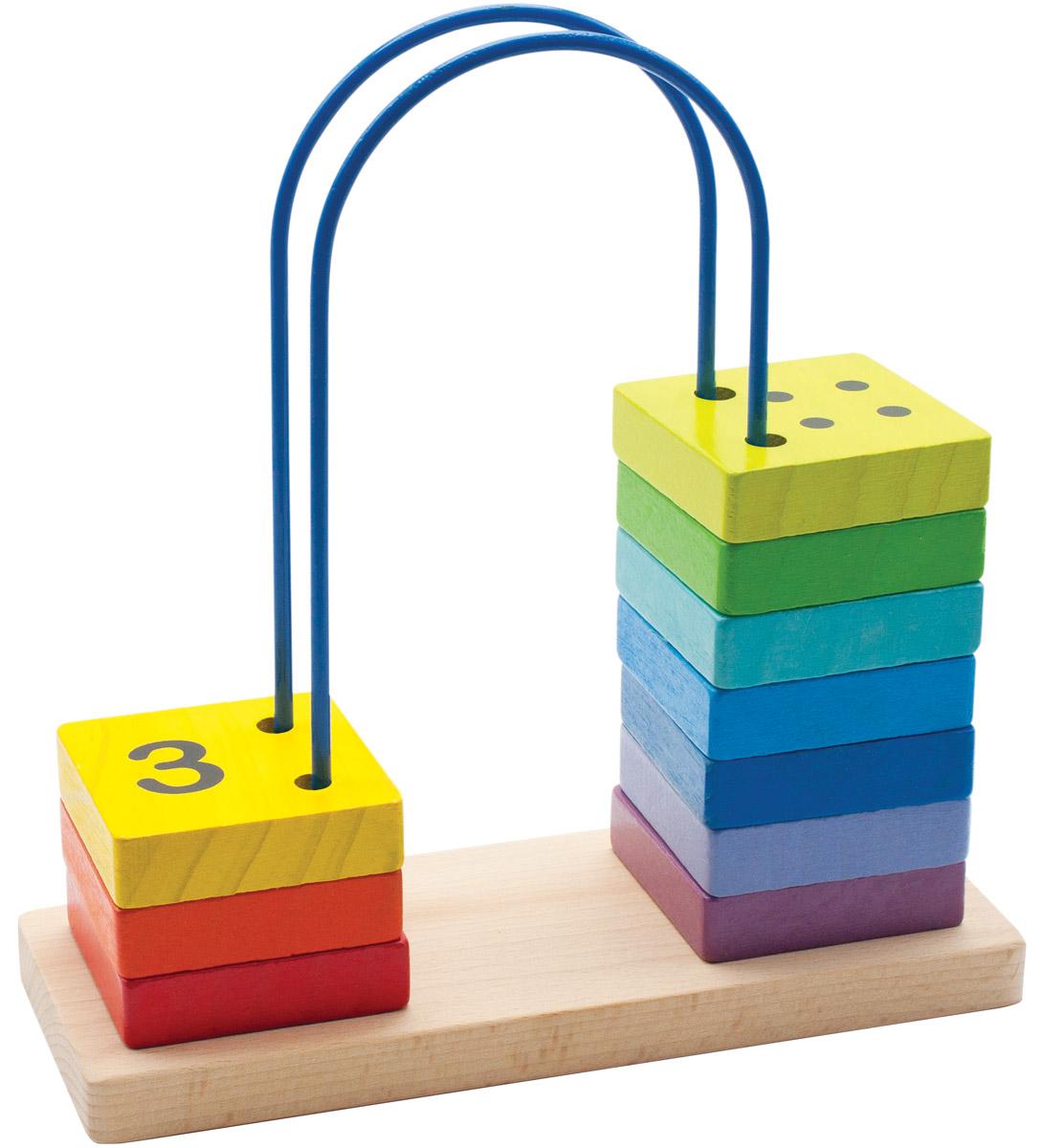 Мир деревянных игрушек Счеты перекидные большиеД371Перекидные счеты Мир деревянных игрушек помогут ребенку не только изучить цифры, а также выучить цвета. Пять ярких элементов, нанизанных на проволоку, окрашены нетоксичной краской и не представляют опасности для ребенка. Краска устойчива к воздействию влаги, рисунок на изделии долгое время будет сохранять яркость. Увлекательная развивающая игрушка поможет малышу весело и с пользой провести время. Игрушка способствует развитию моторики, тренирует мышцы кисти, отрабатывает круговые движения, стимулирует визуальное восприятие, цветовосприятие, когнитивное мышление, помогает изучить цифры и счет, развивает интеллектуальные способности и воображение. С такой игрушкой учебный процесс будет интересным и увлекательным для вашего ребенка.