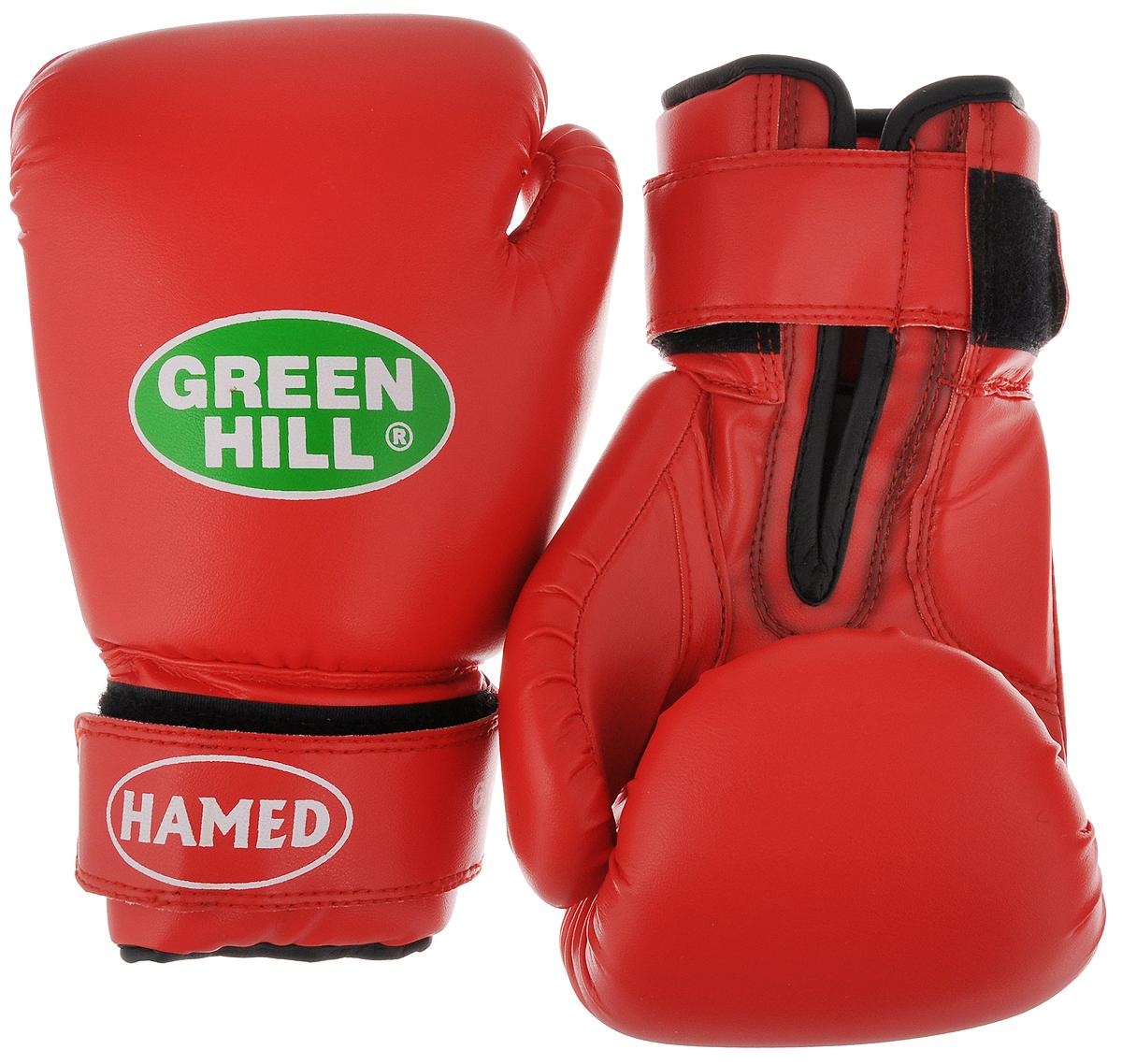 """Перчатки боксерские детские Green Hill """"Hamed"""", цвет: красный. Вес 6 унций BGHC-2022_манжета красная"""