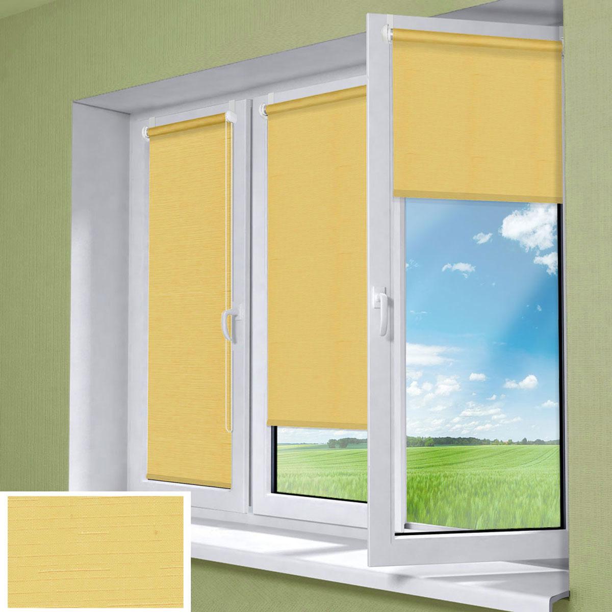 Миниролло KauffOrt 68х170 см, цвет: ярко-желтый
