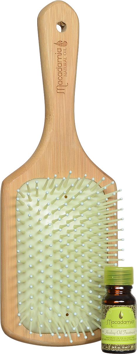 Macadamia Natural Oil Щетка для волос, деревяннаяММ16Щетка для волос Macadamia Natural Oil пропитана маслом арганы и макадамии, создана с использованием инновационных процессов, позволяющих смешивать масло-уход со специально созданными смолами. Ваши волосы будут получать естественное питание и оздоровление при каждом расчесывании. Характеристики: Материал: дерево. Производитель: США. Товар сертифицирован.