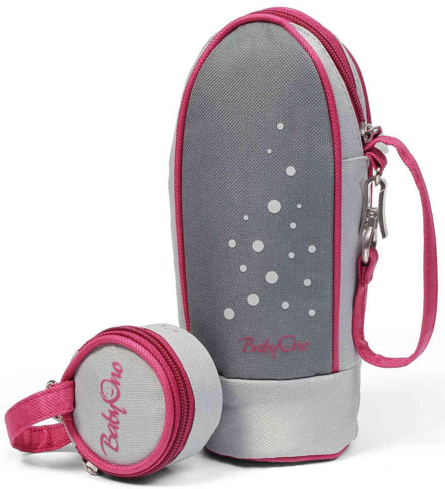 BabyOno Термоупаковка универсальная Style с контейнером для пустышек цвет серый бордовый
