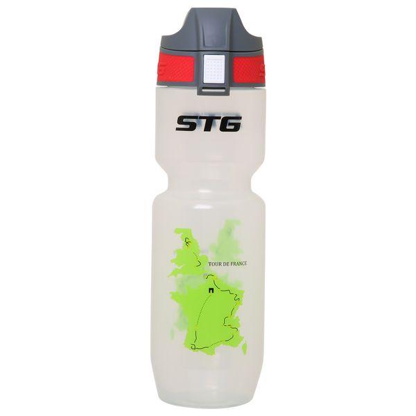 Велофляга STG Tour de France. ED-BT21, 750 мл, цвет: белый прозрачный. Х61861Х61861Велофляга STG 750мл Tour de France TRANSPARENT, ED-BT21