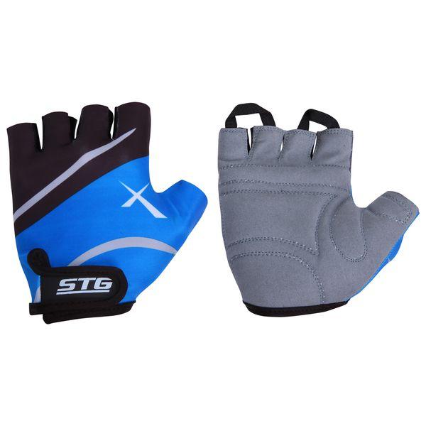 Перчатки велосипедные STG летние, быстросъемные, цвет: синий. Размер M. Х61876Х61876-МПерчатки летние быстросъемные из кожи и лайкры на липучке и с защитной прокладкой. Велосипедные перчатки STG обеспечат надежный хват за руль велосипеда и обезопасят руки от ссадин при внезапном падении. Поставляются в индивидуальной упаковке. Для подбора перчаток необходимо измерить ширину ладони. Измерить ее можно линейкой или сантиметром по середине ладони от указательного пальца до мизинца. Соответствие ширины ладони перчаток: M-8,5см
