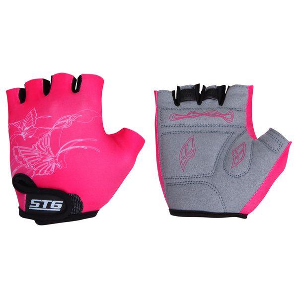 """Перчатки велосипедные детские """"STG"""" летние, быстросъемные, цвет: розовый. Размер M. Х61898 Х61898-М"""