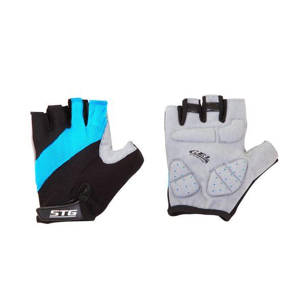 """Перчатки велосипедные """"STG"""" летние, цвет: голубой. Размер M. Х66457"""