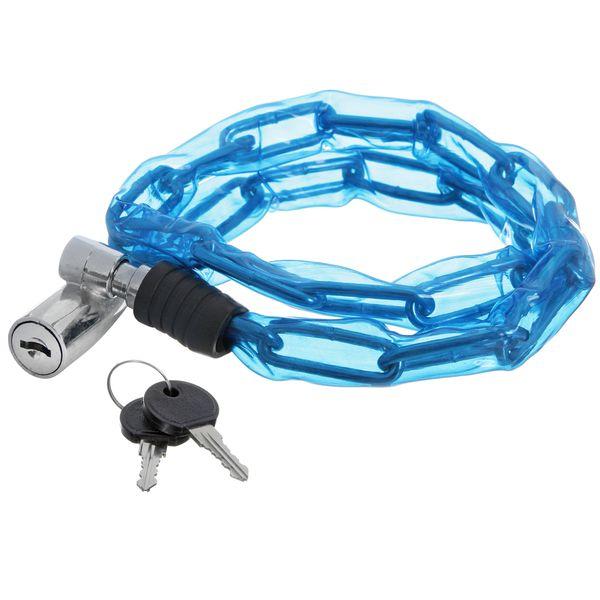 Замок велосипедный STG, трос спиральный, с ключом, 3,5 см х 80 см. Х66520-5Х66520-5Замок STG, трос спиральный, с ключом диам.3,5х80см
