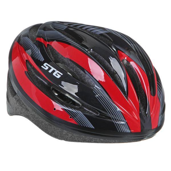 Шлем велосипедный STG HB13-A, цвет: черный. Размер M. Х66757Х66757Велошлем STG - необходимый аксессуар каждого велосипедиста, предназначенный для защиты головы во время катания. Специальные отверстия обеспечивают оптимальную вентиляцию головы. Легкая и технологичная конструкция Out-mold гарантирует безопасность райдеров, катающихся, как в городе, так и по пересеченной местности. Велошлем STG с удобной подкладкой и застежкой, которая комфортно фиксирует шлем на голове велосипедиста - это отличный выбор для ежедневных активных поездок или безопасных прогулок по выходным.