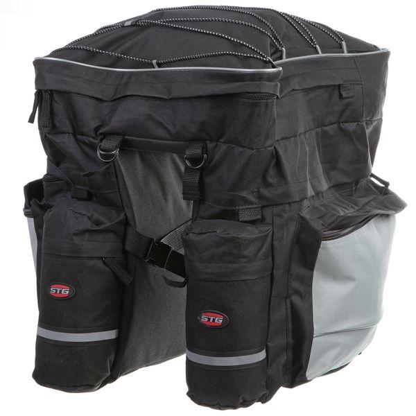 Велосумка STG, на багажник. Х68726-5Х68726-5Велосумка STG, на багажник Размеры боковых отделений: 30 х 10 х 36 см. Размер верхнего отделения: 9 х 35 х 38 см.
