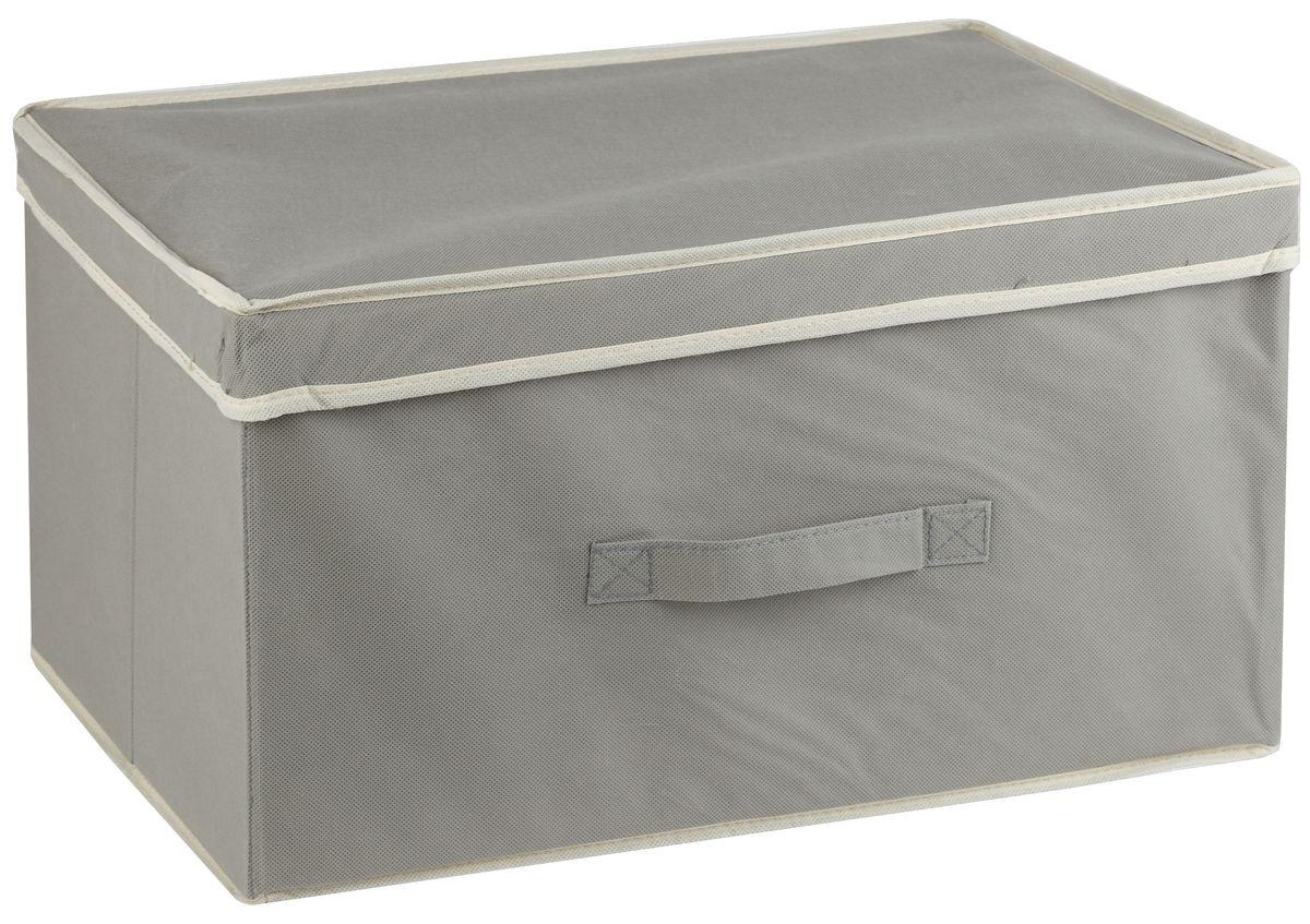 Короб для хранения White Fox Standart, с крышкой, цвет: серый, 38 х 33 х 18 смWHHH10-344Коллекция Standart от White Fox изготовлена из нетканного полотна, наиболее популярного среди товаров для хранения вещей. В коллекции представлены самые популярные вещи: подвесные кофры, короба с крышками и без, мягкие чехлы для вещей, чехлы для костюмов. Все изделия упакованы в компактную упаковку, которая имеет подвес. Короба складываются.