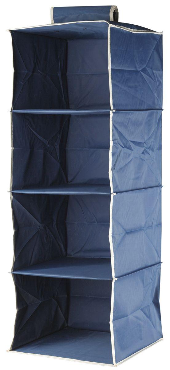 Кофр подвесной White Fox Comfort, 4 полки, цвет: голубой, 30 х 30 х 84 смWHHH10-351Коллекция Comfort от White Fox изготовлена из полиэстера с пропиткой. Особенность товаров в том, что их можно протирать, в них не накапливается пыль и вещи остаются чистыми. В коллекции представлены самые популярные вещи: подвесные кофры, короба с крышками и без, мягкие чехлы для вещей, чехлы для костюмов. Все изделия упакованы в компактную упаковку, которая имеет подвес. Короба складываются.