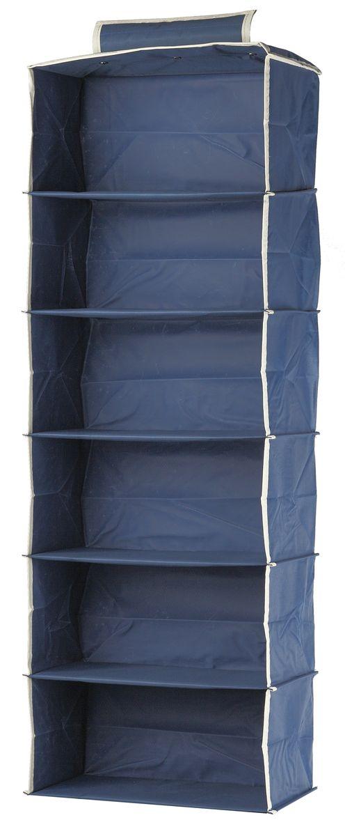 Кофр подвесной White Fox Comfort, 6 полок, цвет: голубой, 30 х 30 х 128 смWHHH10-352Коллекция Comfort от White Fox изготовлена из полиэстера с пропиткой. Особенность товаров в том, что их можно протирать, в них не накапливается пыль и вещи остаются чистыми. В коллекции представлены самые популярные вещи: подвесные кофры, короба с крышками и без, мягкие чехлы для вещей, чехлы для костюмов. Все изделия упакованы в компактную упаковку, которая имеет подвес. Короба складываются.