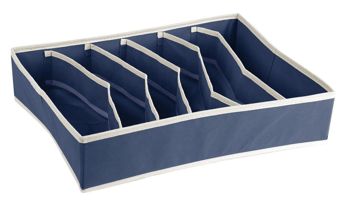 Короб для хранения White Fox Comfort, с делениями внутри, цвет: голубой, 30 х 40 х 9 смWHHH10-357Коллекция Comfort от White Fox изготовлена из полиэстера с пропиткой. Особенность товаров в том, что их можно протирать, в них не накапливается пыль и вещи остаются чистыми. В коллекции представлены самые популярные вещи: подвесные кофры, короба с крышками и без, мягкие чехлы для вещей, чехлы для костюмов. Все изделия упакованы в компактную упаковку, которая имеет подвес. Короба складываются.