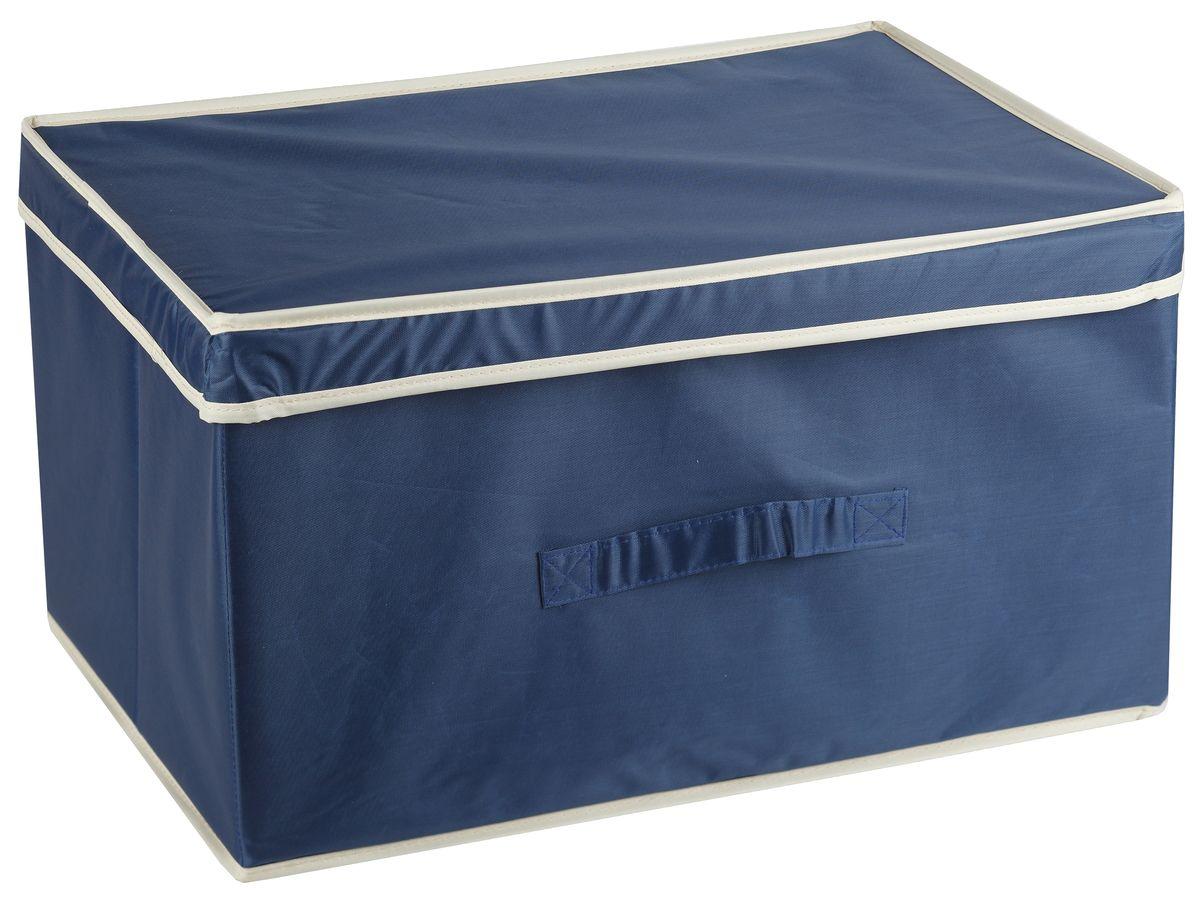 Короб для хранения White Fox Comfort, с крышкой, цвет: голубой, 38 х 33 х 18 смWHHH10-360Коллекция Comfort от White Fox изготовлена из полиэстера с пропиткой. Особенность товаров в том, что их можно протирать, в них не накапливается пыль и вещи остаются чистыми. В коллекции представлены самые популярные вещи: подвесные кофры, короба с крышками и без, мягкие чехлы для вещей, чехлы для костюмов. Все изделия упакованы в компактную упаковку, которая имеет подвес. Короба складываются.