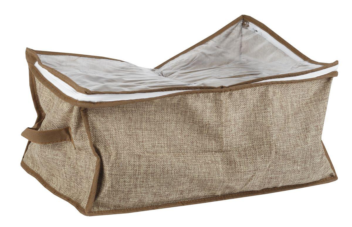 Чехол для вещей White Fox Linen, цвет: бежевый, 30 х 50 х 60 смWHHH10-381Коллекция Linen от White Fox изготовлена из полиэстера стилизованного под Лен. В коллекции представлены самые популярные вещи: подвесные кофры, короба с крышками и без, мягкие чехлы для вещей, чехлы для костюмов. Все изделия упакованы в компактную упаковку, которая имеет подвес. Короба складываются.