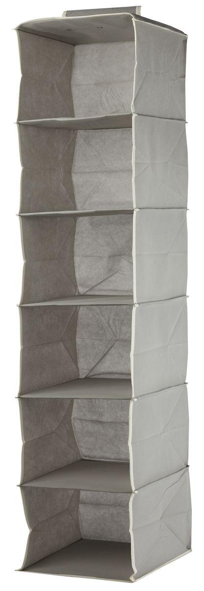Кофр подвесной White Fox Standart, 6 полок, цвет: серый, 30 х 30 х 128 смWHHH10-336Коллекция Standart от White Fox изготовлена из нетканного полотна, наиболее популярного среди товаров для хранения вещей. В коллекции представлены самые популярные вещи: подвесные кофры, короба с крышками и без, мягкие чехлы для вещей, чехлы для костюмов. Все изделия упакованы в компактную упаковку, которая имеет подвес. Короба складываются.