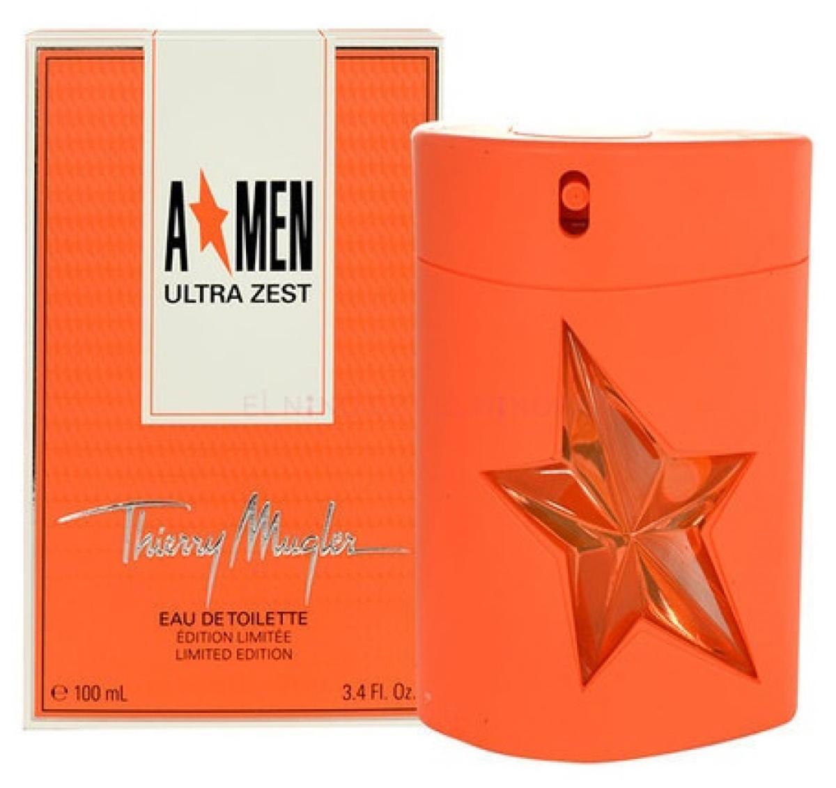 Thierry Mugler Туалетная вода A*Men Ultra Zest, мужская, 100 мл13975Древесные, пряные. Апельсин, имбирь, мята, танжерин, корица, кофе, перец, бобы тонка, ваниль, пачули.
