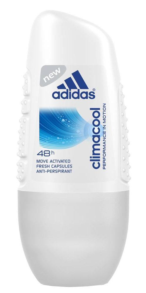 Adidas Дезодорант-антиперспирант ролик Climacool Anti-Perspirant Roll-On, женский, 50 мл340133555/3607343816281Защита - 48 ч. Прекрасное сочетание ухода и защиты от пота. Легкий аромат придаст ощущение комфорта, дополнительный заряд свежести.