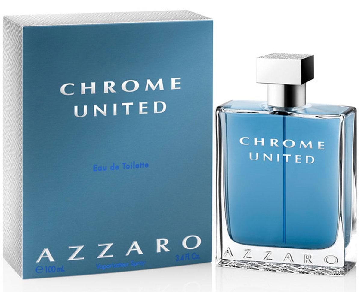 Azzaro Chrome Туалетная вода United, мужская, 100 мл13962Классификация: элитная. Тип аромата: древесные, пряные. Начальная нота: бергамот, кориандр, сычуанский перец. Нота сердца: листья фиалки, черный цейлонский чай. Конечная нота: белый мускус, кедр.