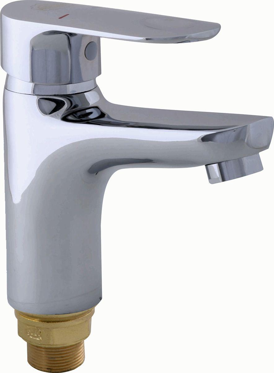 Смеситель для умывальника РМС, литой с коротким изливом. SL81-001F. Цвет: хром