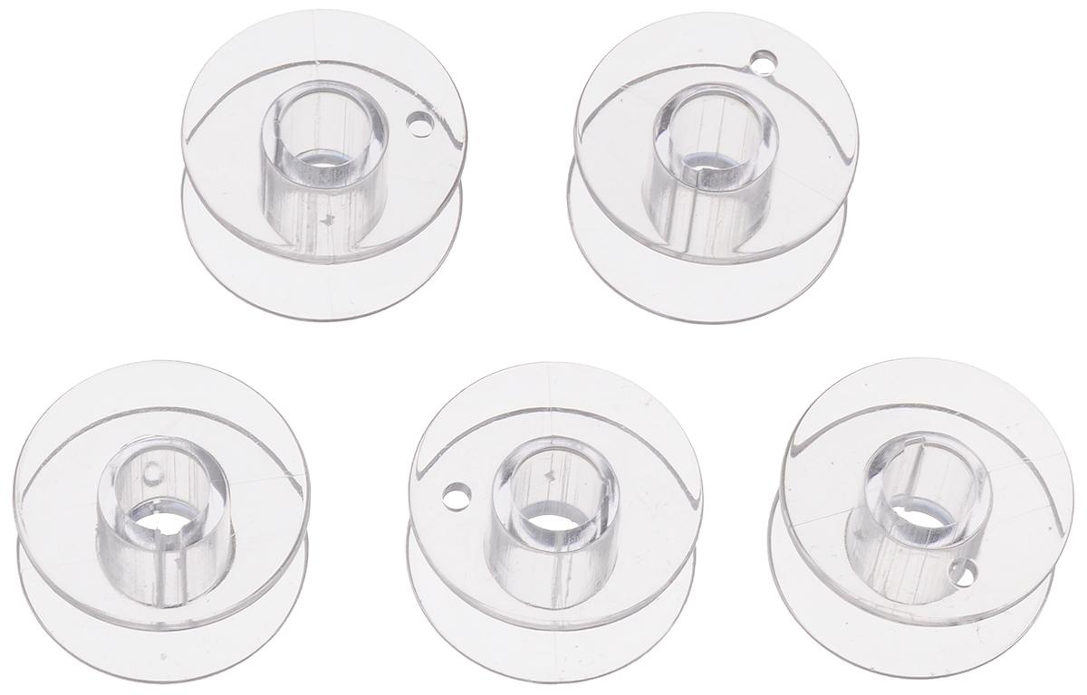Шпуля для швейной машины Aurora, пластиковая, стандартная, 5 шт. AU-1100AU-1100Шпули Aurora, выполненные из пластика, предназначены для намотки ниток в швейных машинах. Они подходят для большинства швейных машин Brother, Aurora, Janome, Elna, Bernette, New Home. Перед использованием необходимо проверить соответствие данных шпуль оригиналу. Размер шпули: 20,5 х 20,5 х 11,5 мм.