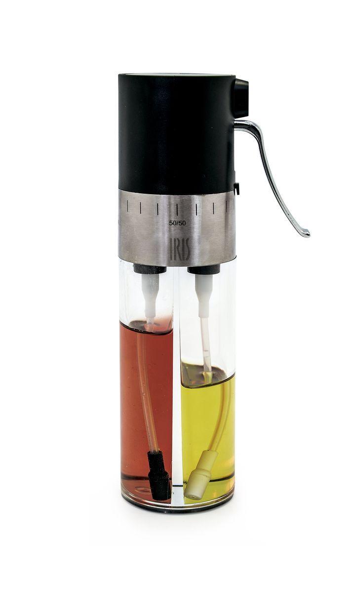 Диспенсер для масла и уксуса Iris Totkocina, с регулятором и фильтрами, цвет: черныйI3066-PNЭтот диспенсер для масла и уксуса обладает особым дозатором-спреем, который позволяет Вам смешивать его содержимое в любых пропорциях. Также на нем установлен фильтр для отсеивания инородных частиц. Рекомендуется мыть в посудомоечной машине.