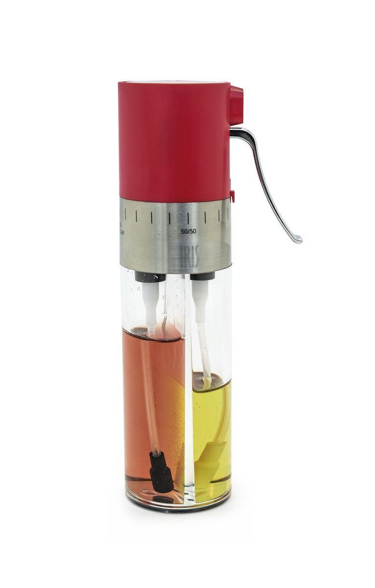 Диспенсер для масла и уксуса Iris Totkocina, с регулятором и фильтрами, цвет: красныйI3066-PRЭтот диспенсер для масла и уксуса обладает особым дозатором-спреем, который позволяет Вам смешивать его содержимое в любых пропорциях. Также на нем установлен фильтр для отсеивания инородных частиц. Рекомендуется мыть в посудомоечной машине.