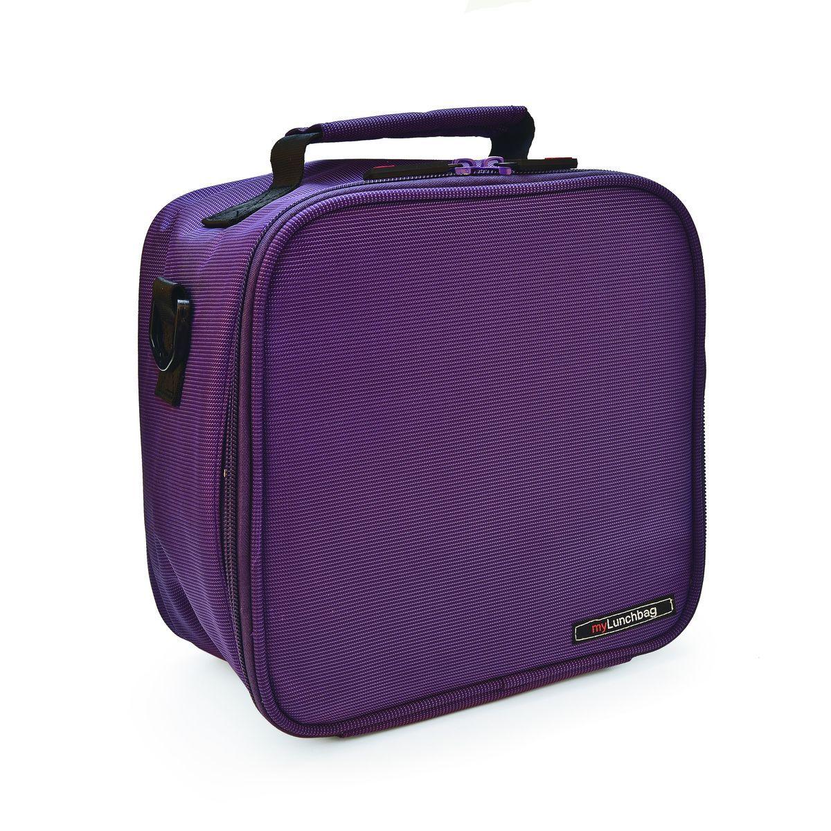 Ланч-бокс Iris Basic MyLunchbag, цвет: фиолетовый, 3,8 лI9232-TXЛанч-бокс Iris Basic MyLunchbag выполнен из высококачественного полиэстера и закрывается на застежку-молнию. Он отлично сохраняет свежесть и вкус продукта на несколько часов. Пригодится везде: на прогулке, на работе, учебе. С ним легко справится даже ребенок! Внутри имеется удобный сетчатый кармашек для аксессуаров, а также регулируемый ремень и ручка для переноски. Рекомендуется регулярно стирать сумку вручную в теплой воде с мылом.