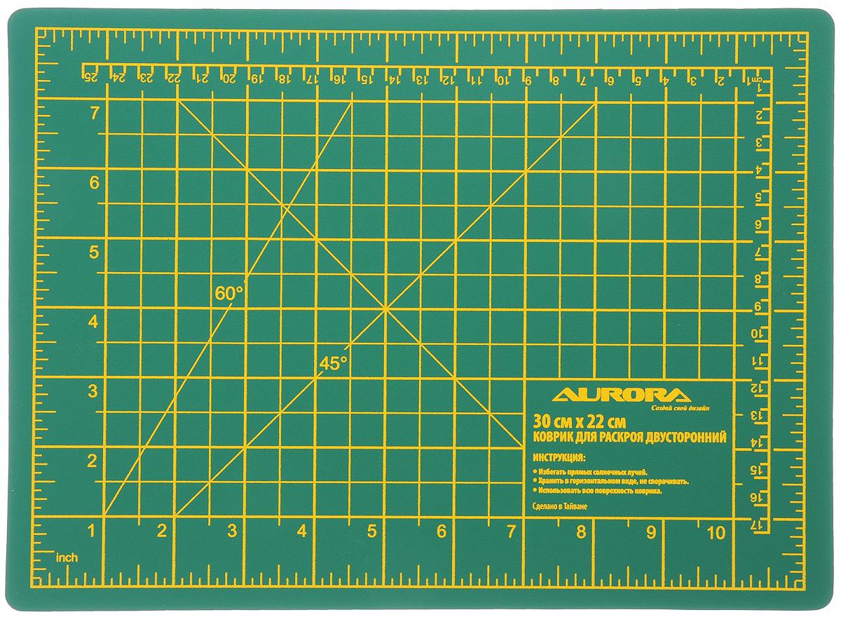 Коврик для раскроя Aurora, двухсторонний, 30 х 22 смAU-3022Коврик Aurora изготовлен из 7 слоев ПВХ и предназначен для резки бумаги, картона и ткани. Он обладает стойкостью к поломкам и порезам. Изделие достаточно мягкое для защиты лезвия и достаточно жесткое, чтобы предотвратить глубокие надсечки. На рабочей поверхности изделия имеется графическая разметка для точности резки.
