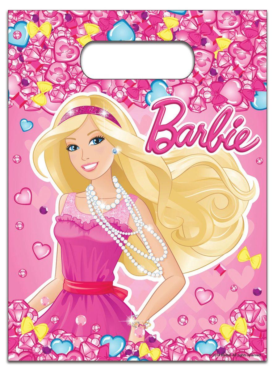 Barbie Пакет подарочный Барби 6 шт30305Красивые подарочные пакеты - это изящный и практичный способ украсить подарки. В наборе Барби 6 полиэтиленовых пакетов для подарков размером 17 х 23 см, декорированных привлекательным принтом.